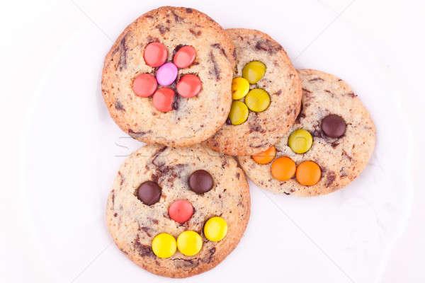 Schokolade Chip Cookies weiß Kinder candy Stock foto © bernashafo