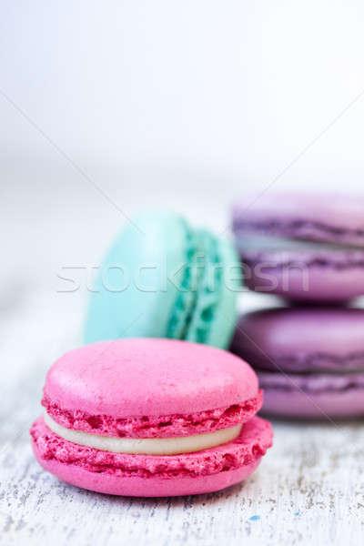 Essen Schokolade Hintergrund grünen Farbe weiß Stock foto © bernashafo