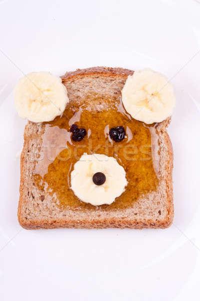 Tragen Gesicht Sandwich Bananen Honig Obst Stock foto © bernashafo