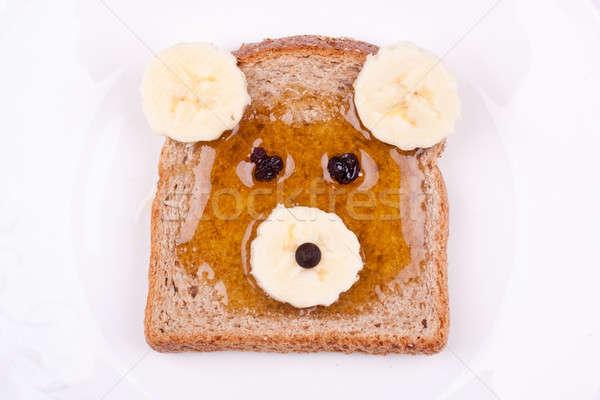 bear face sandwich Stock photo © bernashafo