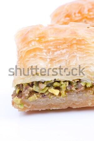 Traditionellen Dessert Kaffeehaus essen süß Bäckerei Stock foto © bernashafo