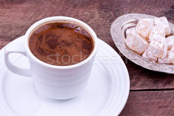 Turkish coffee and Turkish delight Stock photo © bernashafo