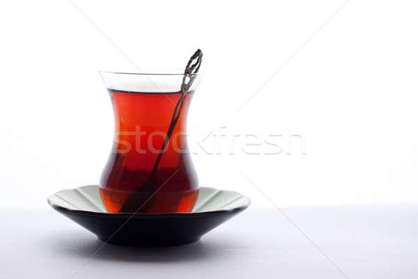 Glas Türkisch Tee weiß Hintergrund Stock foto © bernashafo