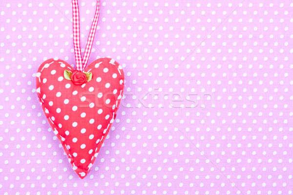 Rot Stoff Herz rosa glücklich Stock foto © bernashafo
