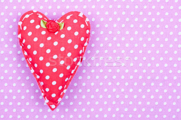 red polka dot fabric heart Stock photo © bernashafo