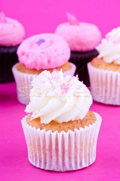 Mini Essen Party Geburtstag Hintergrund Stock foto © bernashafo