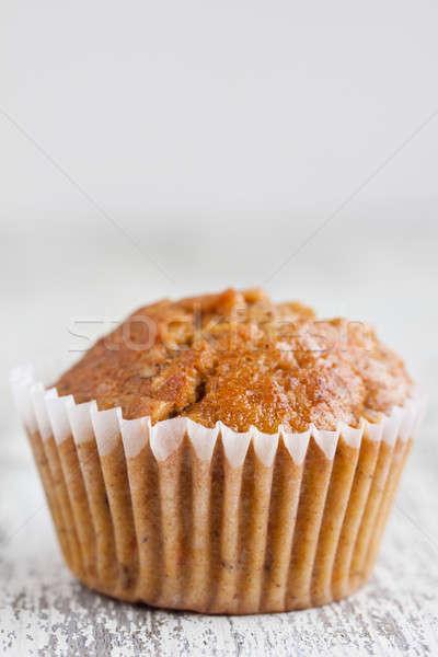 Karotte Muffin Muffins weiß Holz orange Stock foto © bernashafo