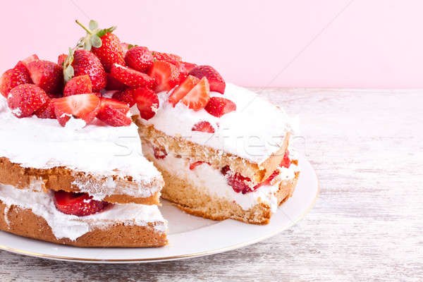 strawberry cake Stock photo © bernashafo