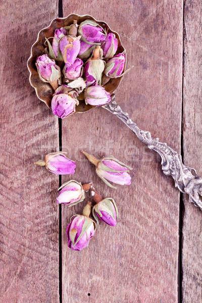 Stock foto: Getrocknet · stieg · Blume · Blumen · Natur · Blatt