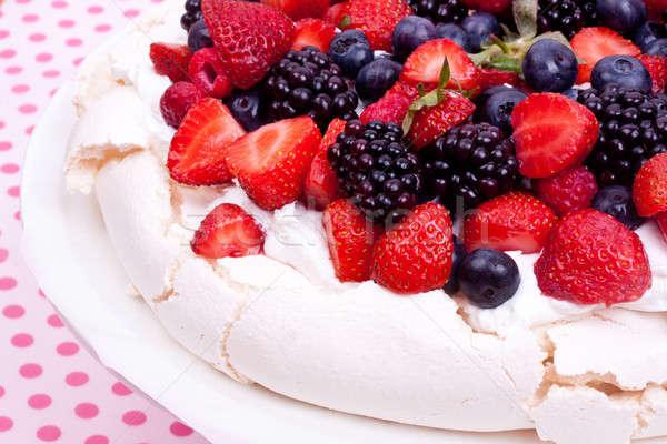 Berry ciasto strony owoców lata Zdjęcia stock © bernashafo