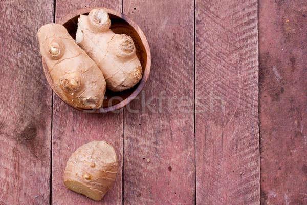 Ingwer Holz Essen Natur frischen Stock foto © bernashafo