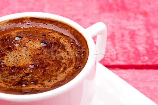 Türkisch Kaffee rosa Holz Tabelle trinken Stock foto © bernashafo