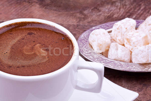 Turkish coffee and Turkish delight Stock photo © bernashafo