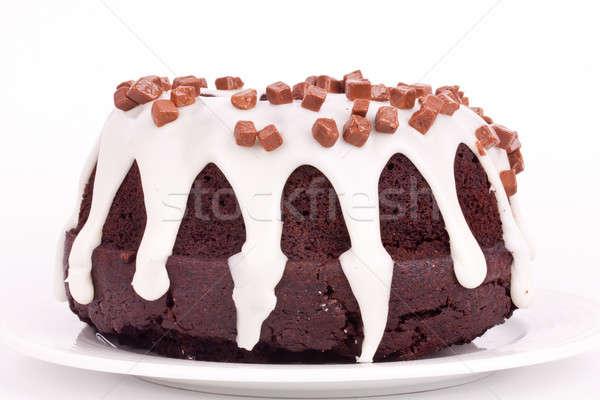 chocolate cake with vanilla sauce Stock photo © bernashafo