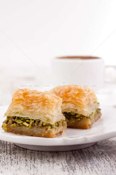 トルコ語 コーヒー 白 食品 新鮮な 砂糖 ストックフォト © bernashafo