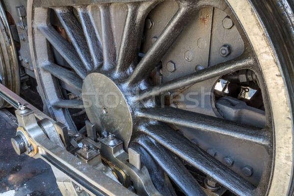 Detalles edad motor ferrocarril museo Foto stock © Bertl123