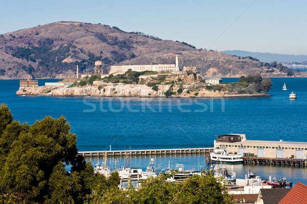 Alcatraz Island And Hyde Street Pier, San Francisco, California Stock photo © Bertl123