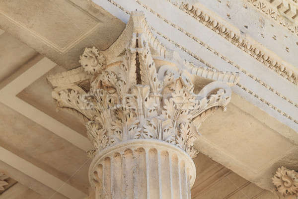 Roman Temple Details in Nimes, Provence, France Stock photo © Bertl123