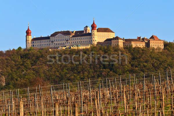 аббатство снизить Австрия виноградник весны стены Сток-фото © Bertl123