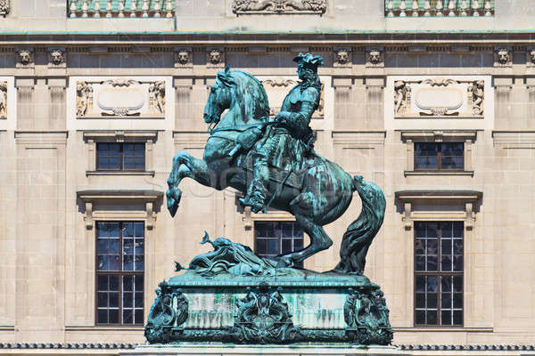 Statue of Prince Eugene of Savoy in front of Hofburg Palace, Vie Stock photo © Bertl123