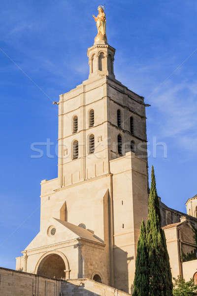 Avignon - Notre Dames des Domes Church near Papal Palace, Proven Stock photo © Bertl123
