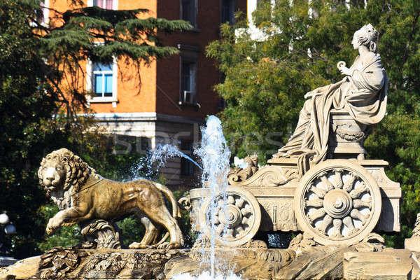 фонтан Мадрид Испания здании город синий Сток-фото © Bertl123