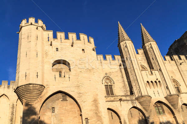Avignon in Provence - View on Popes Palace Stock photo © Bertl123