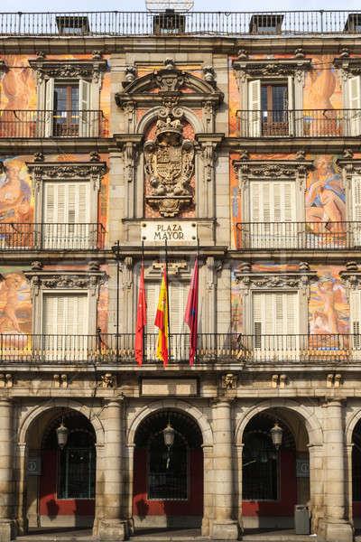 Madrid, Plaza Mayor, Facade of Casa de la Panaderia, Spain Stock photo © Bertl123