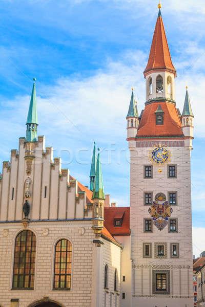 München óváros előcsarnok torony Németország épület Stock fotó © Bertl123