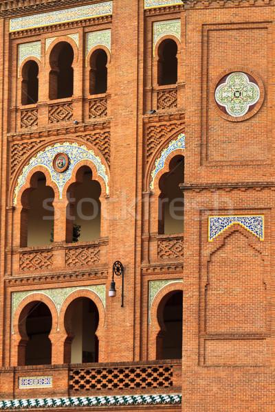 Madrid Spanyolország építészet részletek aréna ablak Stock fotó © Bertl123