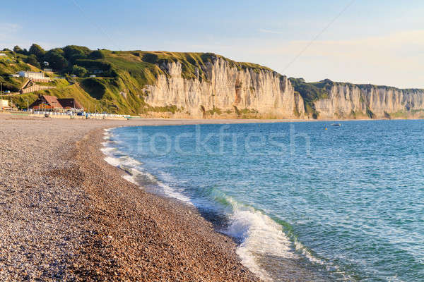 Normandy Coast with white cliffs, near Fecamp, France Stock photo © Bertl123
