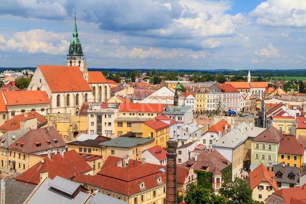 мнение города Чешская республика дома здании синий Сток-фото © Bertl123