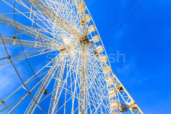 Witte wiel blauwe hemel hemel familie zomer Stockfoto © Bertl123