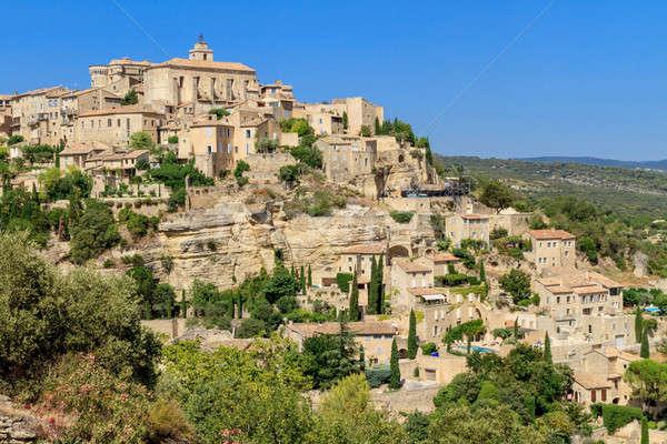 Gordes medieval village in Southern France Stock photo © Bertl123