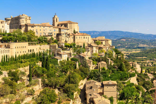 Gordes medieval village in Southern France Stock photo © Bertl123