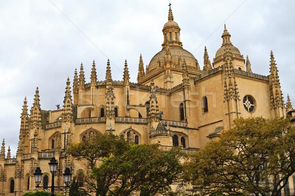 Katedral İspanya Bina şehir kilise seyahat Stok fotoğraf © Bertl123