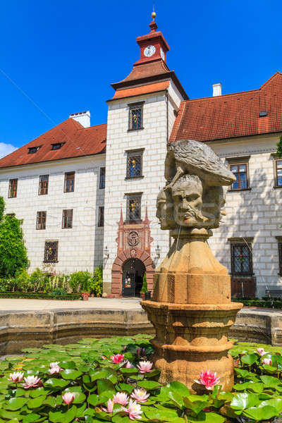 Trebon (Wittingau) Renaissance Castle (Zamek Trebon), Czech Repu Stock photo © Bertl123