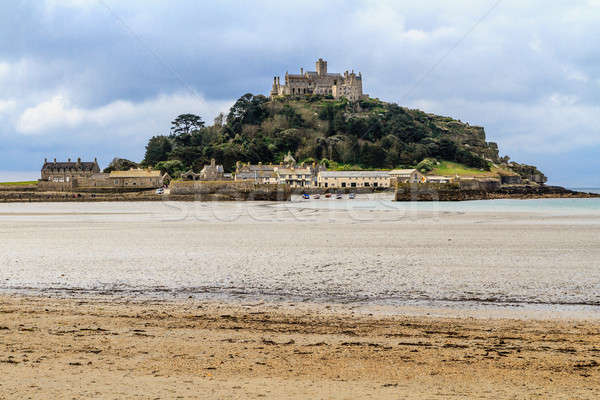 Cornwall village plage ciel eau ville Photo stock © Bertl123