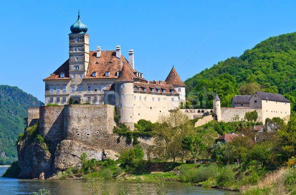 замок Австрия Дунай реке долины небе Сток-фото © Bertl123