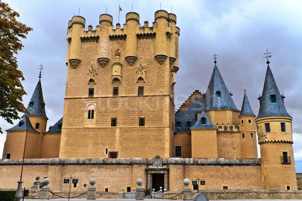 Spagna castello costruzione città mondo blu Foto d'archivio © Bertl123