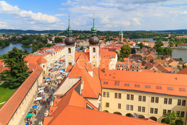Telc, view on old town (a UNESCO world heritage site), Czech Rep Stock photo © Bertl123