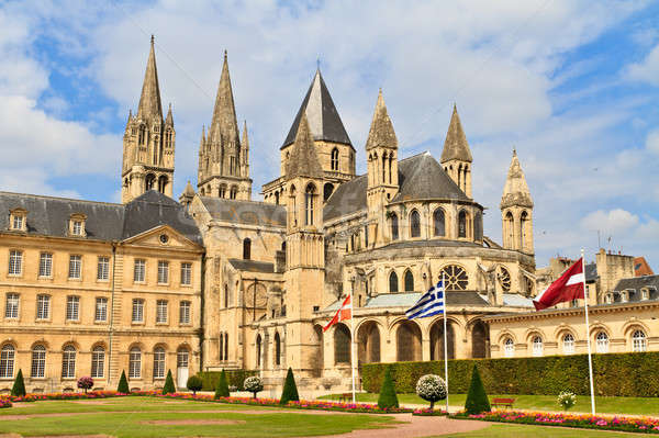 Normandia França igreja edifício cidade Foto stock © Bertl123