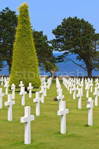American War Cemetery near Omaha Beach, Normandy (Colleville-sur Stock photo © Bertl123