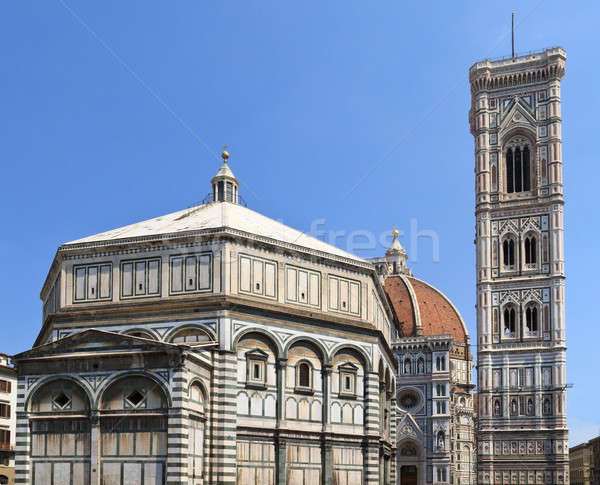 Florence Dome and Campanile, Italy Stock photo © Bertl123