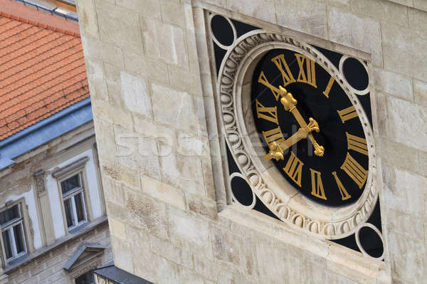 Clock Tower Close Up Stock photo © Bertl123