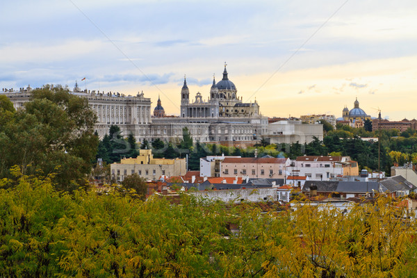 Katedral Madrid İspanya şehir çapraz alan Stok fotoğraf © Bertl123