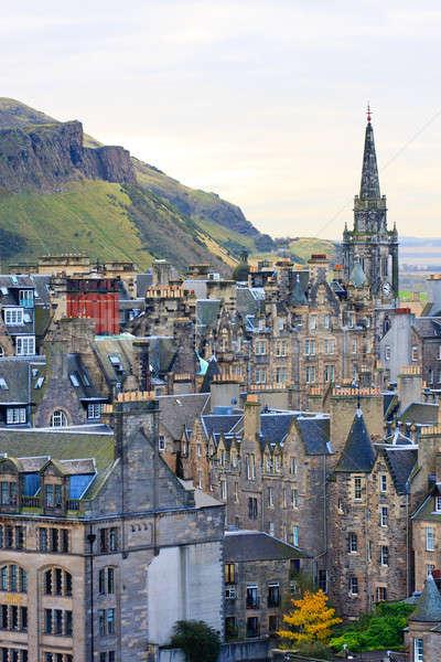 Edinburgh Street Panorama with Arthur Stock photo © Bertl123