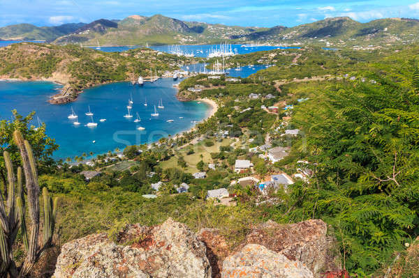 Antigua Bay Aerial View, Falmouth Bay, English Harbour, Antigua  Stock photo © Bertl123