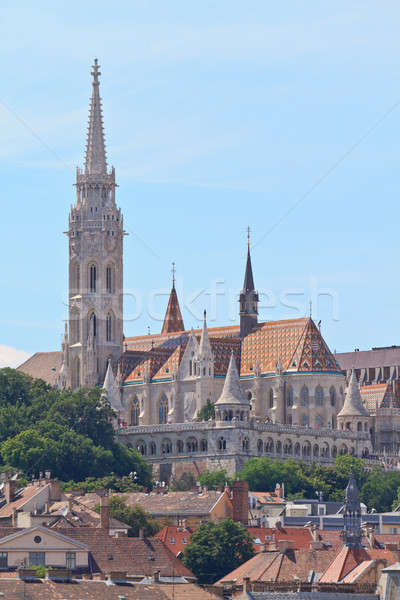 Saint Matthias church and Fisherman Bastion in Budapest, Hungary Stock photo © Bertl123