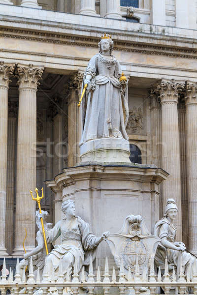 Queen Anne Statue In Front Of St Paul's Cathedral, London, UK Stock photo © Bertl123